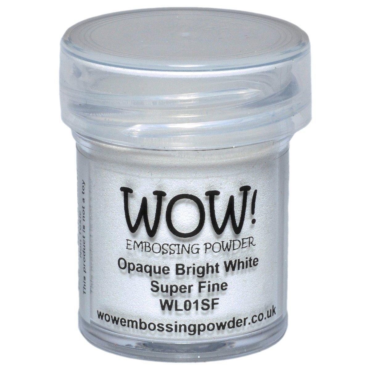 WOW - Polvo para Repujado (Opaco, 5 x 3 x 3 cm), Color Blanco Brillante: Amazon.es: Hogar