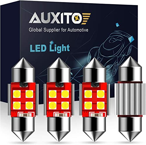 """AUXITO Extremely Bright CANBUS Error Free 4-SMD 3030 Chipset 31mm (1.25"""") DE3175 DE3021 Festoon Xenon White LED Bulbs..."""