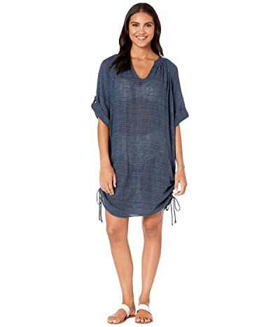 Seafolly Bali Hai Textured Gauze Beach Shirt Cover-Up (Blueprint) Women