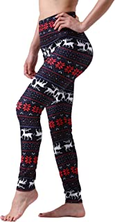 Maxi Women's Ultra Soft Popular Printed Leggings Floral Active Comfy Stretchy Pants for Party Yoga Running