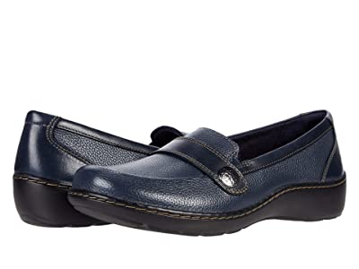 Clarks Cora Daisy (Navy Tumbled Leather) Women