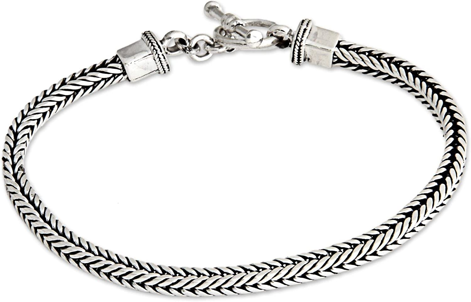 Direct sale of manufacturer Superior NOVICA .925 Sterling Silver Braided 'Balin 8.75