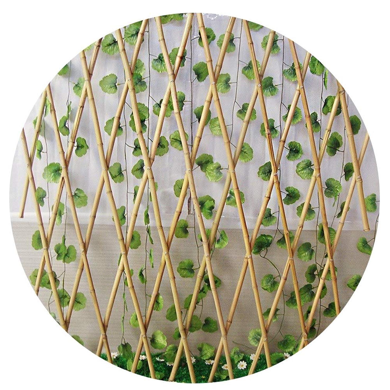 隠の前でわなYYFANG 木製フェンス屋外パティオ望遠鏡フェンス植物クライミングウォール分離スペースガーデンデコレーションナチュラルホワイト竹、3サイズ (Color : Natural, Size : 180x90cm)