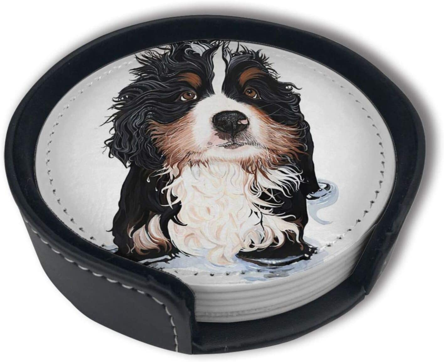 Spring new work Bernese Mountain Cute Dogs Same day shipping Funny Coaster to Drink Gift M Friends
