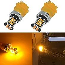 Alla Lighting Super Bright 3156 3157 LED Turn Signal Light Bulbs 2000 Lumens 3156 3457 4157 3157 LED Bulb 3020 30-SMD 3156 3157 LED Lights Bulbs Amber Yellow Blinker Lights Replacement for Cars Trucks
