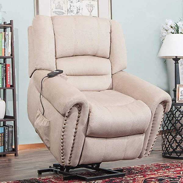 Power Lift Recliner Wilshire Series Heavy Duty Leather Recliner With Remote Control Power Lift Chairs Recliner Sofa Beige