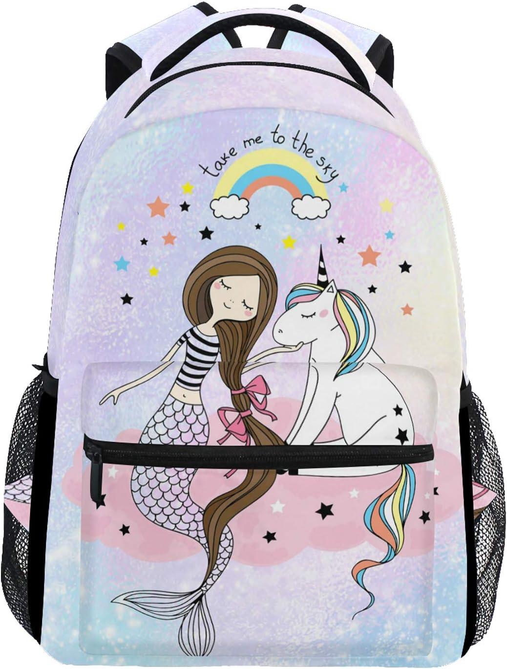 Wamika Mermaid Dab 67% OFF of fixed price Unicorn Kids Girls Finally resale start School B Backpack Bookbags