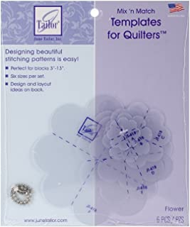 June Tailor Mix'n Match Templates for Quilters 6/Pkg-Flower