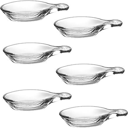 Preisvergleich für Pasabahce 1613802, 6Pfännchen für Appetithäppchen Glas transparent 25x 18,5x 3,5cm
