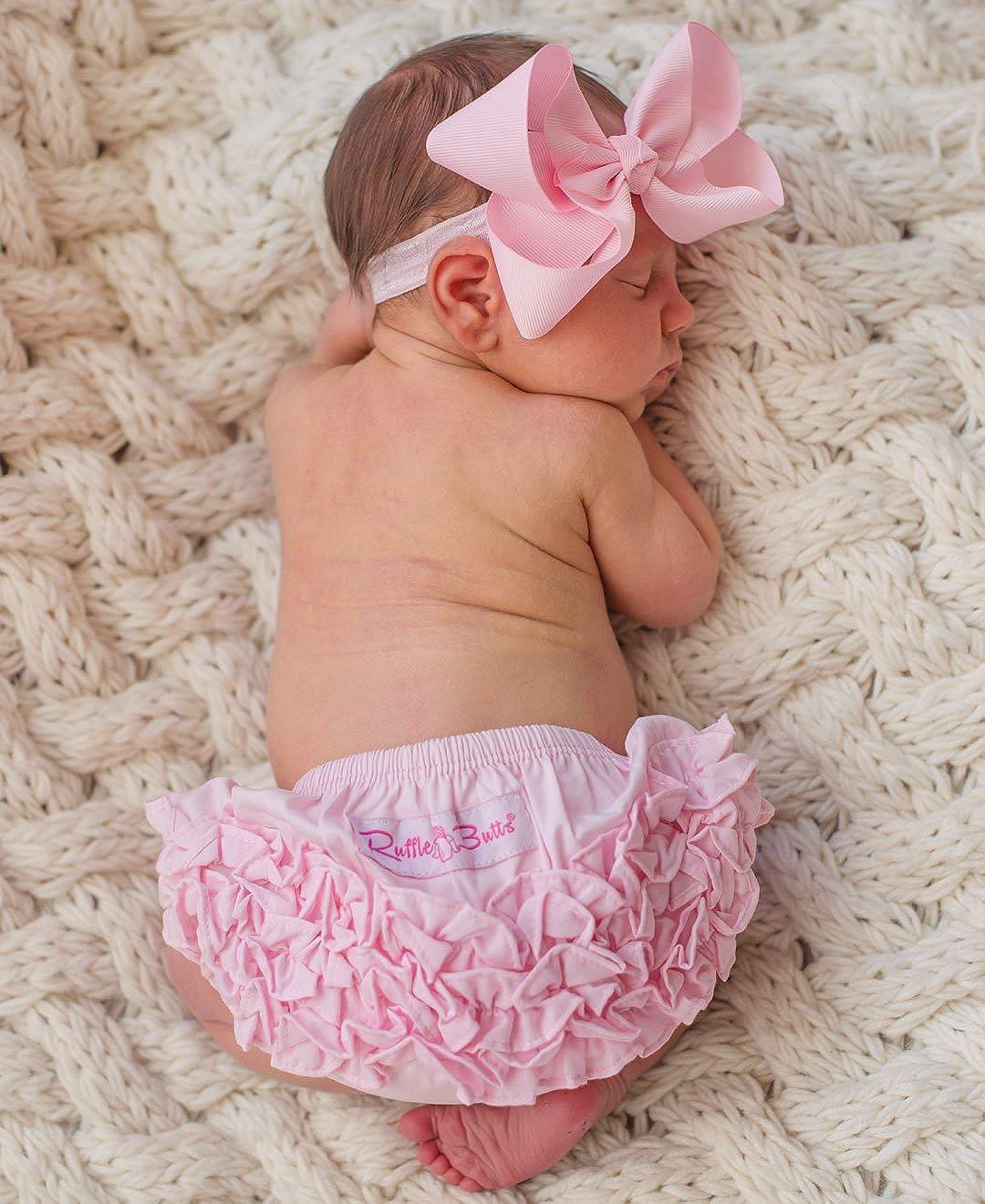 Toddler Girls Ruffled Woven Bloomer RuffleButts Infant