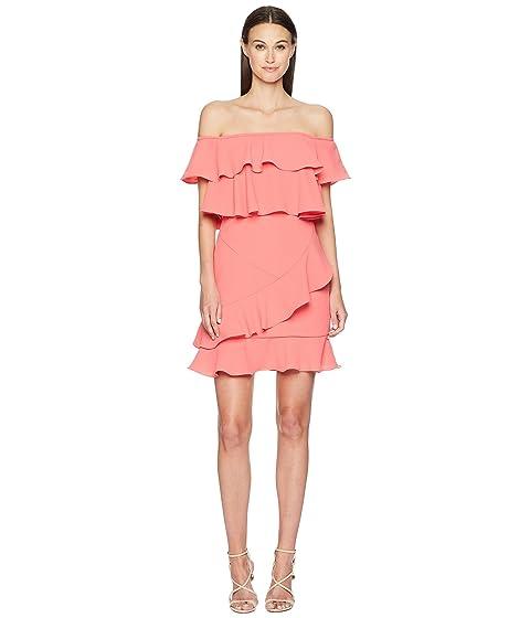 ML Monique Lhuillier Off Shoulder Ruffle Dress