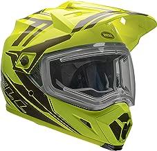 Bell MX 9 Adventure Electric Shield Snow Helmet (Yellow/Titanium, Medium)