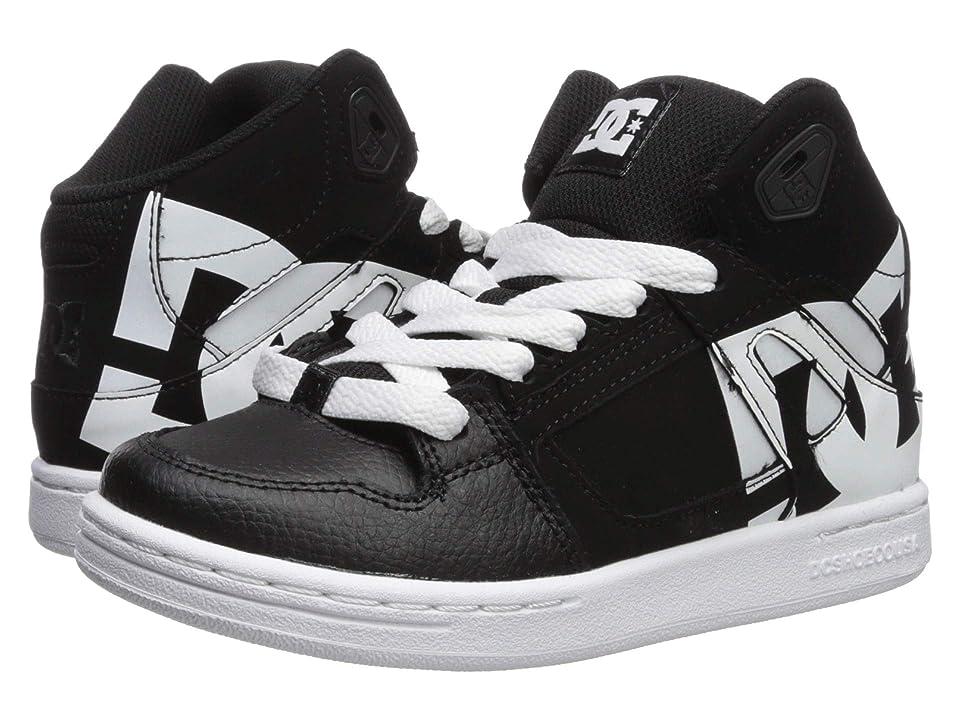 DC Kids Pure High-Top SP (Little Kid/Big Kid) (Black/White) Boys Shoes
