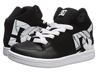 DC Kids Pure High-Top SP (Little Kid/Big Kid) (Black/White) Boys Shoes