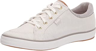 Keds Women's Center II Sneaker, Gray Stripe, 6 Medium