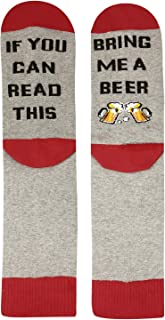 Women's If You Can Read This Crew Socks Funny Saying Beer Wine Coffee Donut