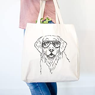 Toby the Golden Retriever Heavy Duty 100% Cotton Canvas Tote Shopping Reusable Grocery Bag 14.75 x 14.75 x 5