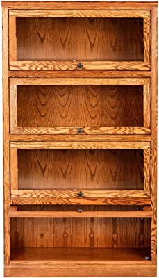 Forest Designs Lawyer Bookcase, 36W x 13D x 49H, Chestnut Oak