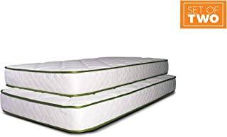 Dreamfoam Bedding Slumber Essentials Premium Foam 7-Inch Twin Mattresses, 2 Pack
