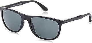 Men's RB4291 Square Sunglasses, Black/Green, 58 mm
