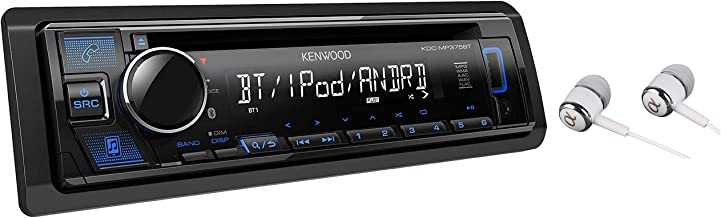 Kenwood Single DIN Bluetooth CD/AM/FM USB Auxiliary Input Car Stereo Receiver w/ Dual..