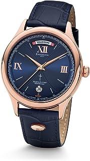 Kronsegler - Reloj automático Martin Luther Limited chapado en oro rosa azul