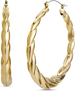 Steve Madden 60mm Twisted Hoop Earrings for Women