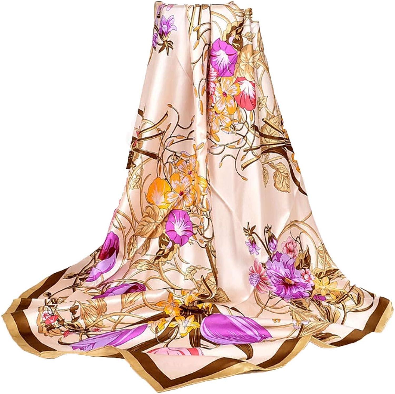 Navy bluee silk scarf shawl lady