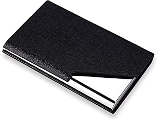 Shop93 Store Leather Steel Business Debit Credit Card Holder Wallet with Magnetic Closure for Men & Women.