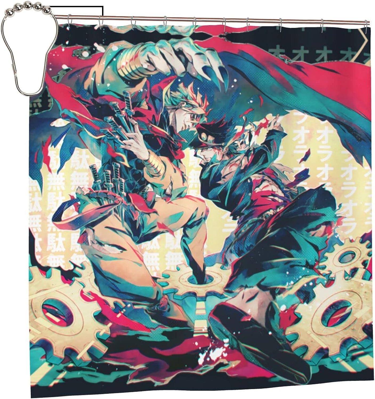 JoJo's Bizarre Adventure Anime Bathroom Cheap mail order shopping Curtain 72 Liner Spasm price Shower