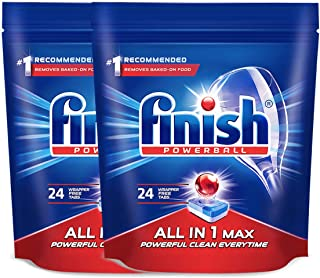 Finish 亮碟 洗碗机专用多效合一洗涤块 396g*2(进口)(亚马逊自营商品, 由供应商配送)
