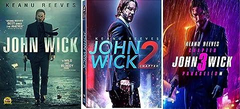 John Wick Trilogy 1 2 3 One Two Three (3 DVD Set Widescreen) Keanu Reeves