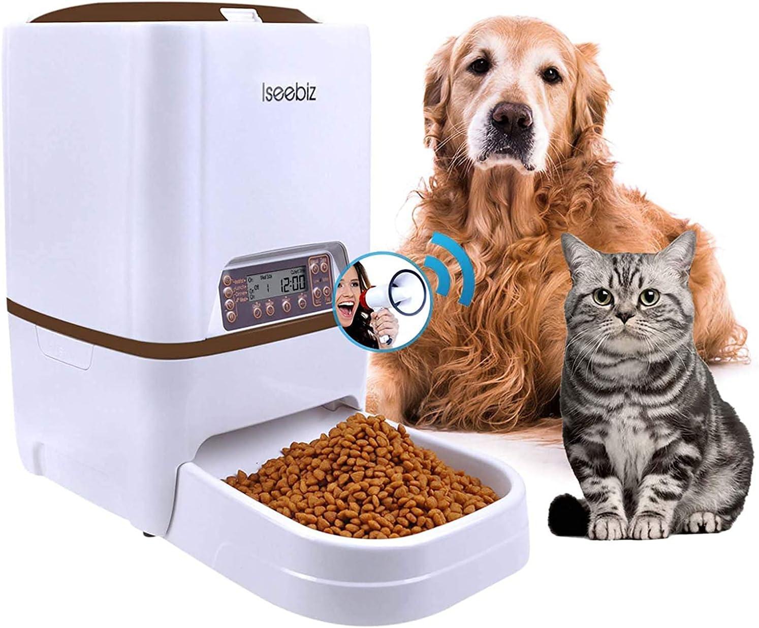 Iseebiz Cheap mail order shopping 6L Automatic Pet Feeder Food latest Dispenser Dog Hopper Cat