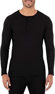 Men's Classic Midweight Waffle Thermal Henley Top