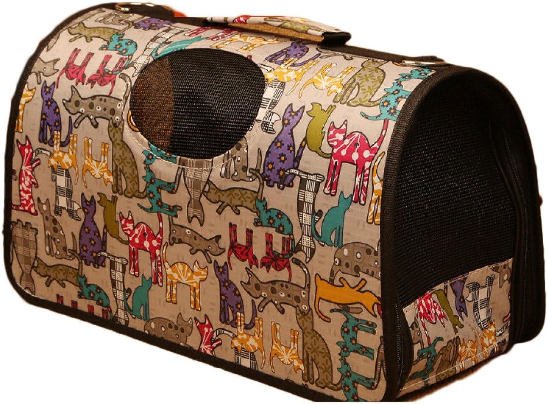 Nihiug Pet Backpack Dog Backpack Medium Breathable Outlet Bag Folding Pet Bag One Shoulder Bag Multicolor,AM