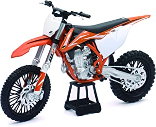 New-Ray KTM 450 SXF Dirt Bike, Realistic and Functional, Kids Toy or Collectible Motorcycle 1/10 Scale (57943)