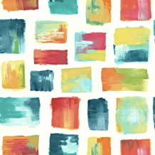 York Wallcoverings Risky Business 2 Burano Removable Wallpaper, Red/Yellow/Blue/Orange/White