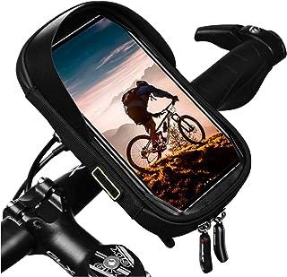 自転車 スマホホルダー 防水 防塵 360度回転 耐震 収納可能 iphone android 6.5インチスマホ対応 ロードバイク バイク用スマホホルダー 日本語説明書付き