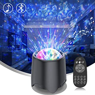 Galaxy Star Projector, [2020 Upgraded] Night Light Projector with Music Speaker & Remote Control for Bedroom/Party/Home Decor, Starry Projector with Voice/Remote Control and Timer for Kids & Adults