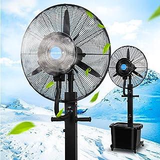 Jyfsa Ventilador de la fábrica Soplador Ventilador Industrial Ventilador de Aire Fresco Vibración Ventilador de nebulización con Tanque de Agua Negro, Altura Fija 180 cm