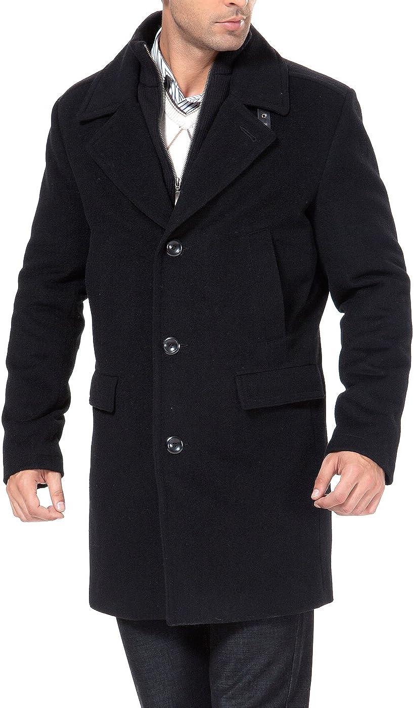 BGSD Men's Steven Cashmere Blend Bibbed Walking Coat (Regular and Big & Tall)