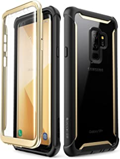 i-Blason Case for Galaxy S9+ Plus 2018 Release, [Ares] Full-Body Rugged Clear Bumper Case with Built-in Screen Protector (Gold)