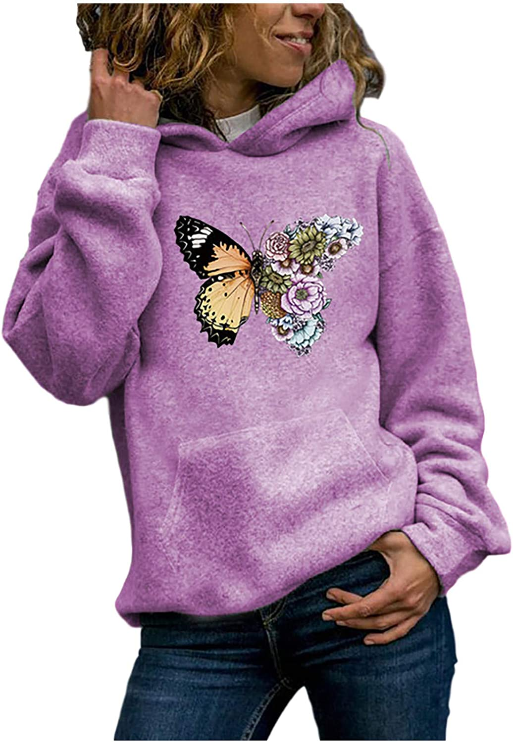 Lozeny Women Sunflower Graphic Leopard Hooded Sweaters Pullover Long Sleeve Hoodies Casual Shirts Tops Sweatshirts