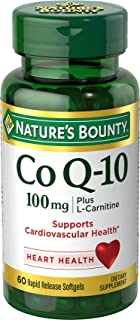 Natures Bounty CoQ10 100mg Plus with L carnitine 60 Softgels