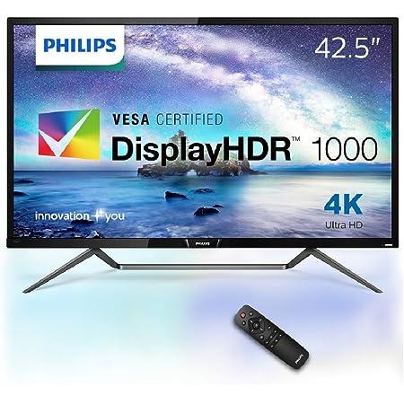 PHILIPS モニター ディスプレイ 436M6VBPAB/11 (42.5インチ/「Display HDR 1000」認証/HDMI/USB Type-C/4K/5年保証)