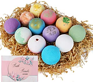 HOVNEE Bath Bombs Gift Set 12 packs, Perfect for Bubble & Spa Bath. Fizzy Spa to Moisturize Dry Skin, Handmade Birthday, Christmas day Gifts For Her/Him