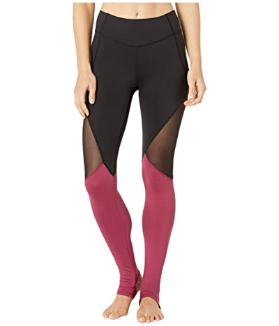 Bloch Panelled Leggings (Dewberry) Women