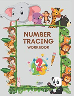 Number Tracing Workbook: Learning Numbers Practice, Kindergarten, Homeschool, Learn to Count, Writing Practice, Kids ages 3-5