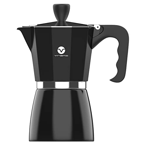 Vremi Stovetop Espresso Maker - Moka Pot Coffee Maker for Gas or Electric Stove Top -