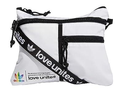 adidas Originals Pride Flat Crossbody Bag (White) Handbags